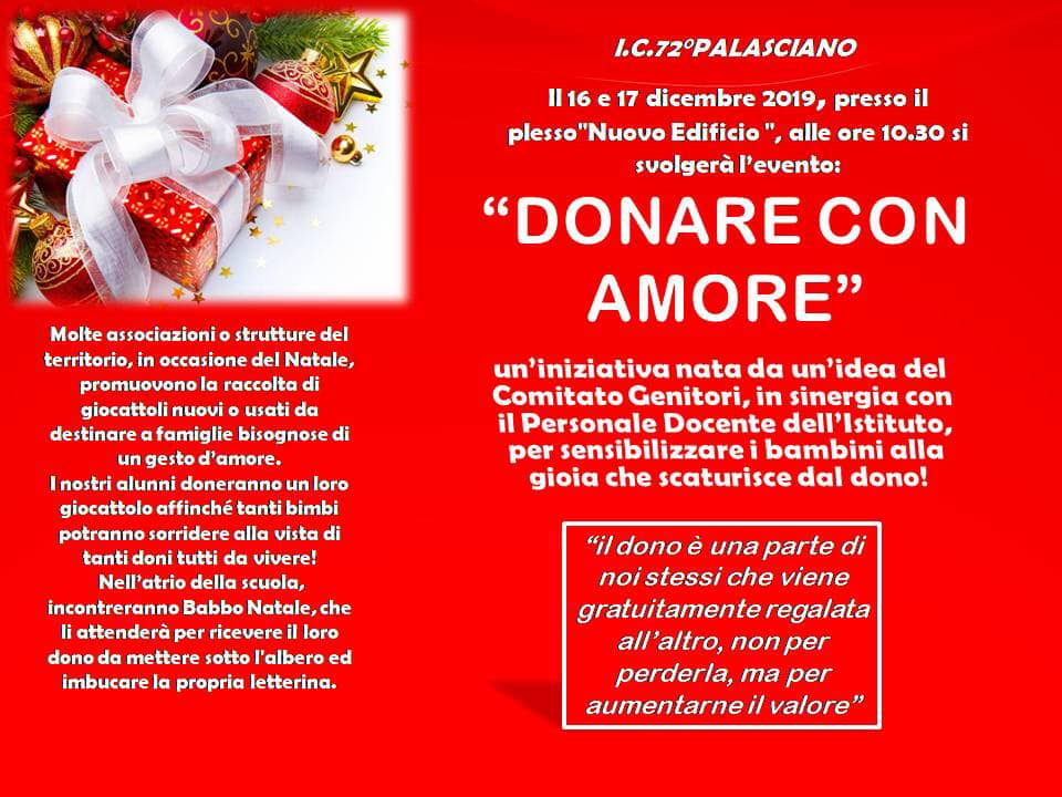"""DONARE CON AMORE"""