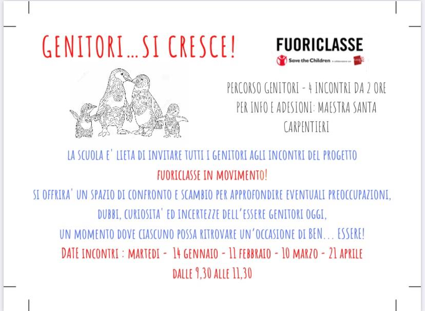 Progetto FUORICLASSE IN MOVIMENTO - GENITORI...SI CRESCE!