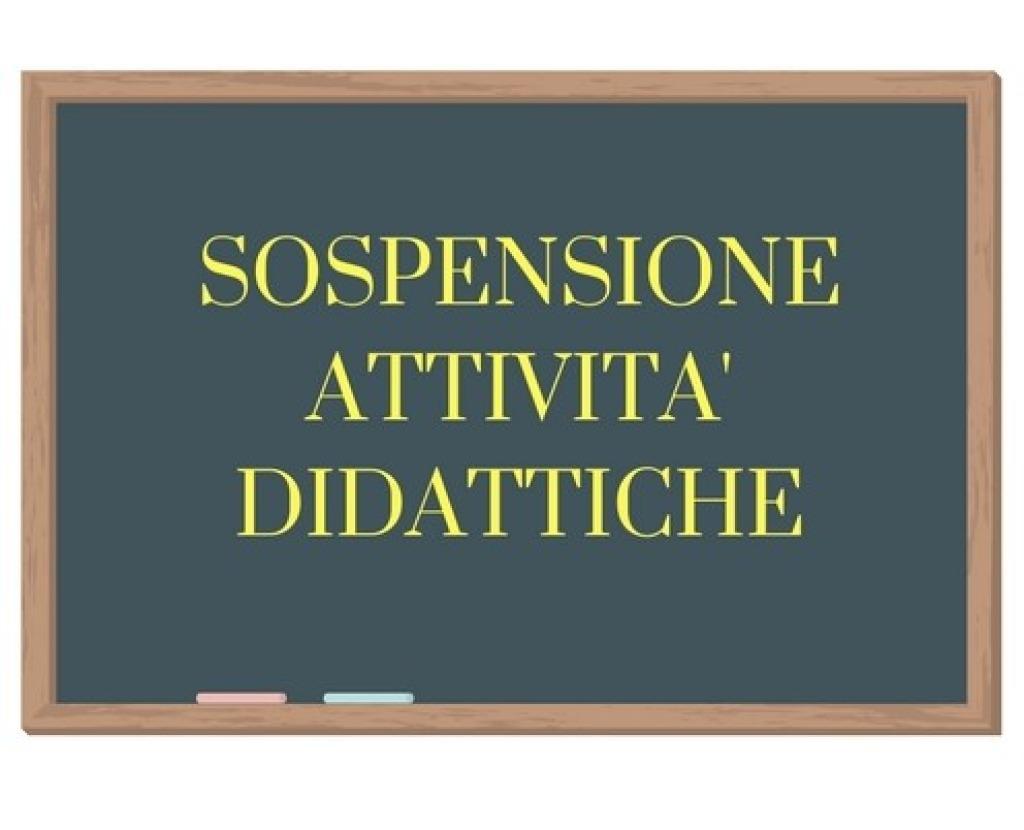 SOSPENSIONE ATTIVITA' DIDATTICA